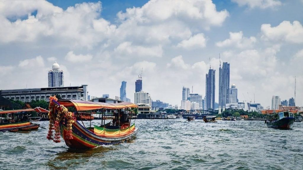 Bangkok River taxi on Chao Phraya River