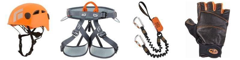 Required equipment for Via Ferrata