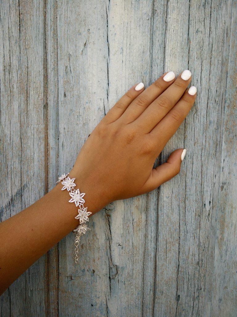 Лефкара - серебряный браслет