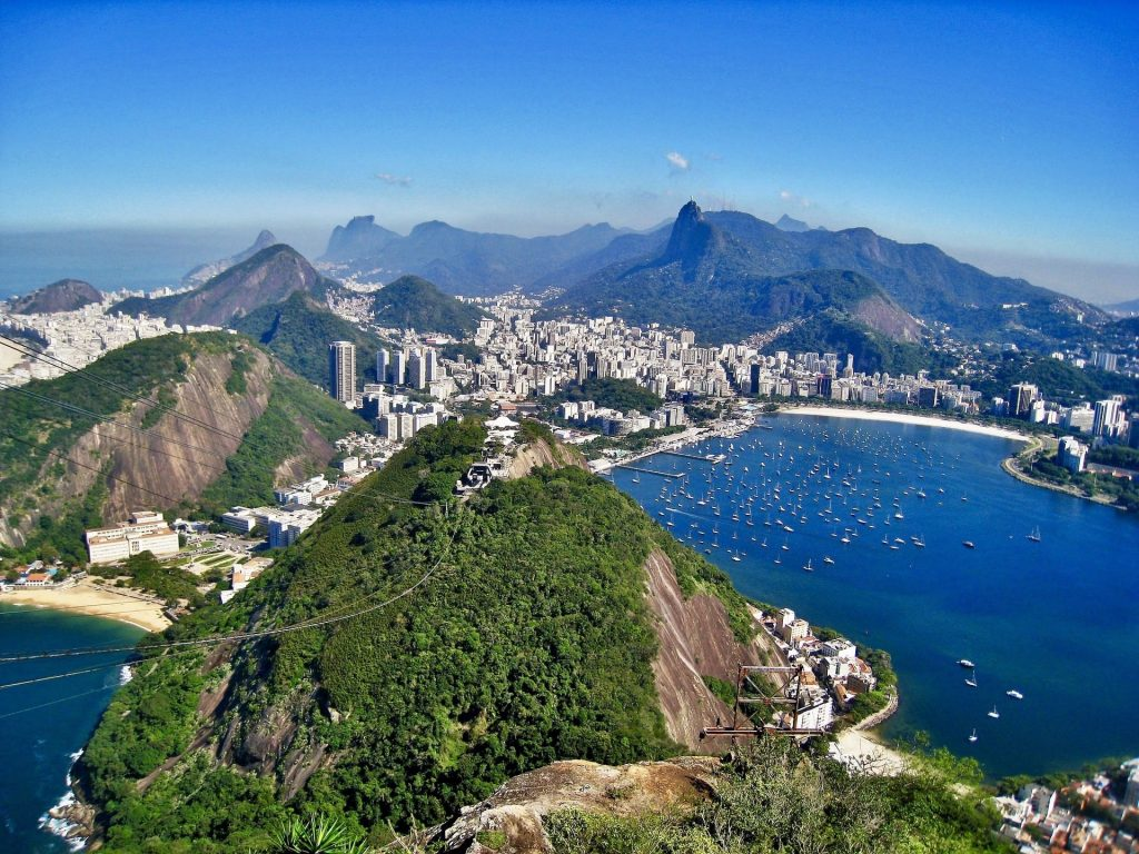 The view from Sugarloaf in Rio 2019